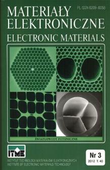 Materiały Elektroniczne 2012 T.40 nr 3