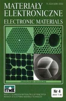 Materiały Elektroniczne 2012 T.40 nr 4