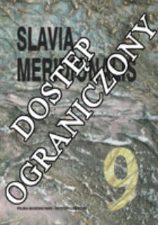 Slavia Meridionalis : studia slavica et balcanica. [T.] 9, Słowotwórstwo języków niestandardowych (2009), Strony tytułowe, Spis treści