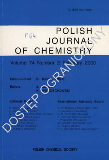 Polish Journal of Chemistry Vol. 74 no. 2 (2000)