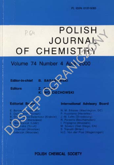 Polish Journal of Chemistry Vol. 74 no. 4 (2000)