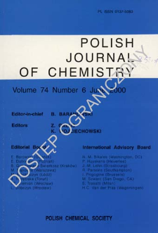Polish Journal of Chemistry Vol. 74 no. 6 (2000)