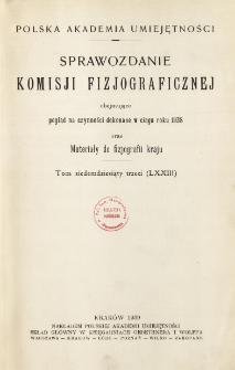 Sprawozdanie Komisji Fizjograficznej