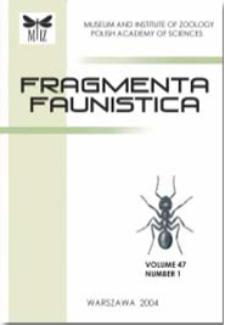 Fragmenta Faunistica t. 21 (1976) - Fauna Pienin. Część I