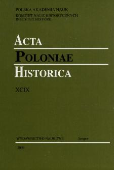 Acta Poloniae Historica. T. 99 (2009), Medieval Studies