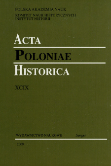 Acta Poloniae Historica. T. 99 (2009), Research on Early Modern Times