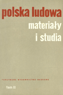Polska Ludowa : materiały i studia. T. 2 (1963), Materiały