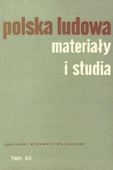 Polska Ludowa : materiały i studia. T. 7 (1968), Materiały