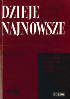 Dzieje Najnowsze : [kwartalnik poświęcony historii XX wieku] R. 28 z. 1 (1996) : Profesorowi Czesławowi Madajczykowi w siedemdziesięciolecie urodzin - współpracownicy, przyjaciele, koledzy i uczniowie