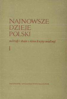 Najnowsze Dzieje Polski : materiały i studia z okresu II wojny światowej T. 1 (1957), Relacje