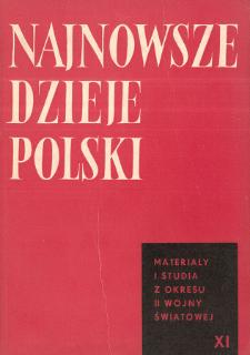Najnowsze Dzieje Polski : materiały i studia z okresu II wojny światowej T. 11 (1967), Materiały