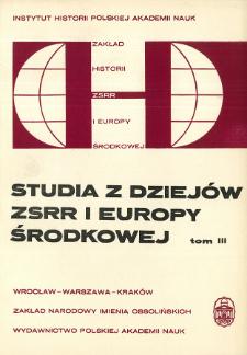 Studia z Dziejów ZSRR i Europy Środkowej. T. 3 (1967), Przeglądy i recenzje