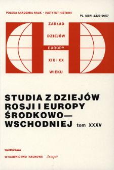 Studia z Dziejów Rosji i Europy Środkowo-Wschodniej. T. 35 (2000), Przeglądy badań