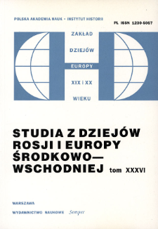 Studia z Dziejów Rosji i Europy Środkowo-Wschodniej. T. 36 (2001), Artykuły recenzyjne i recenzje