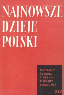 Najnowsze Dzieje Polski : materiały i studia z okresu 1914-1939 T. 14 (1969), Wspomnienia