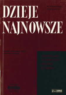 Dzieje Najnowsze : [kwartalnik poświęcony historii XX wieku] R. 27 z. 2 (1995)