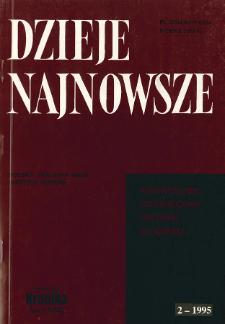 Dzieje Najnowsze : [kwartalnik poświęcony historii XX wieku] R. 27 z. 2 (1995), Artykuły