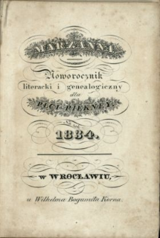 Marzanna : noworocznik literacki i genealogiczny dla płci pięknej na rok... .