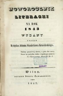 Noworocznik Literacki na Rok ...