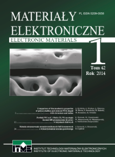 Materiały Elektroniczne 2014 T.42 nr 1
