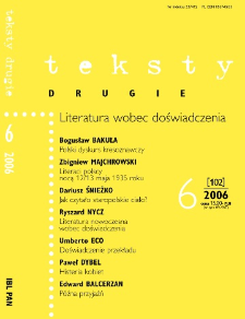 Teksty Drugie Nr 6 (2006)
