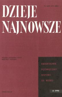 Dzieje Najnowsze : [kwartalnik poświęcony historii XX wieku] R. 22 z. 4 (1990)