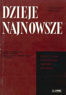 Dzieje Najnowsze : [kwartalnik poświęcony historii XX wieku] R. 30 z. 2 (1998), Artykuły recenzyjne i recenzje