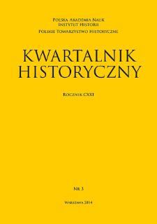 Kwartalnik Historyczny R. 121 nr 3 (2014)
