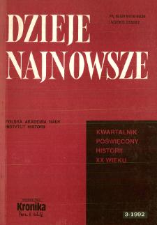 Dzieje Najnowsze : [kwartalnik poświęcony historii XX wieku] R. 24 z. 3 (1992)