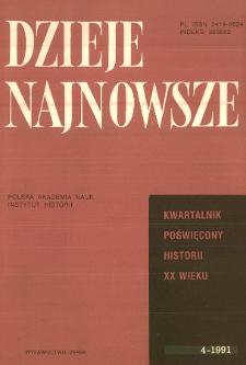 Dzieje Najnowsze : [kwartalnik poświęcony historii XX wieku] R. 23 z. 4 (1991), Artykuły recenzyjne i recenzje