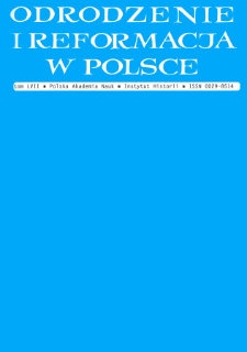 Odrodzenie i Reformacja w Polsce T. 57 (2013), Artykuły recenzyjne