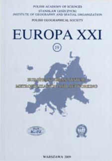 Europa XXI 19 (2009) : European urban system : metropolization and networking
