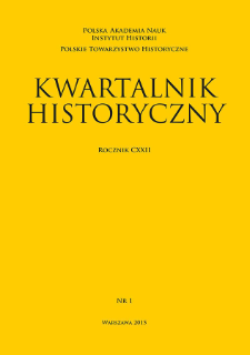 Kwartalnik Historyczny R. 122 nr 1 (2015)