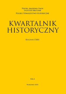 Kwartalnik Historyczny R. 122 nr 2 (2015)