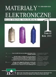 Materiały Elektroniczne 2015 T.43 Nr 1
