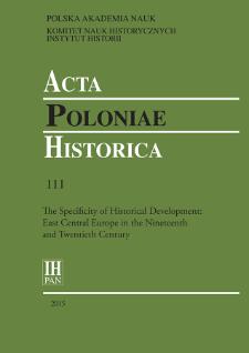 Acta Poloniae Historica. T. 111 (2015), Studies