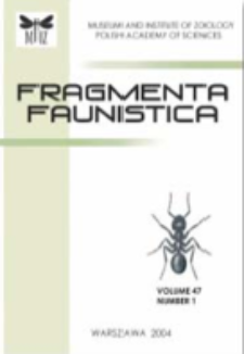 Fragmenta Faunistica, vol. 58, no. 1