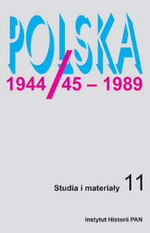 Polska 1944/45-1989 : studia i materiały 11 (2013)
