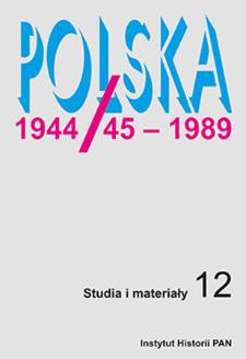 Polska 1944/45-1989 : studia i materiały 12 (2014)