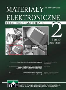 Materiały Elektroniczne 2015 T.43 Nr 2
