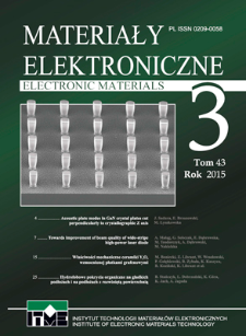 Electronic Materials 2015 Vol. 43 Issue 3