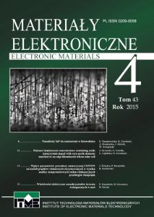 Materiały Elektroniczne 2015 T. 43 Nr 4