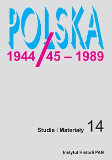 Polska 1944/45-1989 : studia i materiały 14 (2016), Articles and studies