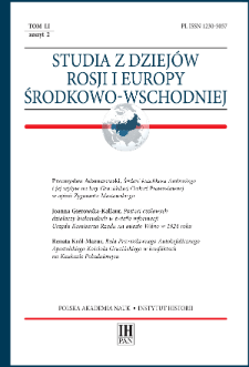 Studia z Dziejów Rosji i Europy Środkowo-Wschodniej T. 51 z. 2 (2016), Artykuły