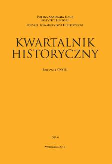 Kwartalnik Historyczny R. 123 nr 4 (2016)