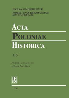 Acta Poloniae Historica T. 115 (2017), Studies