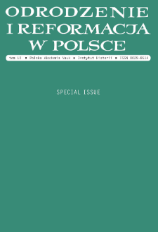 Odrodzenie i Reformacja w Polsce T. 60 (2016) Special Issue