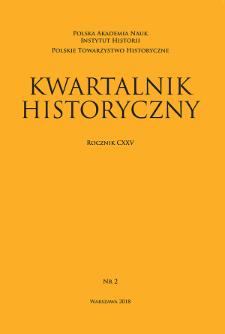 Kwartalnik Historyczny R.125 nr 2 (2018), Przeglądy – Polemiki – Materiały. Odpowiedzi na ankietę