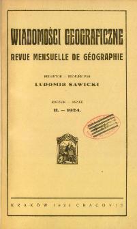 Wiadomości Geograficzne R. 2 (1924)