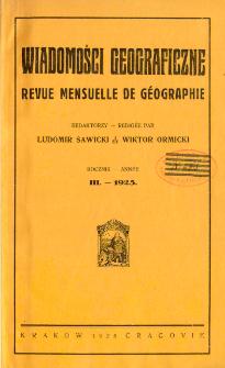 Wiadomości Geograficzne R. 3 (1925)